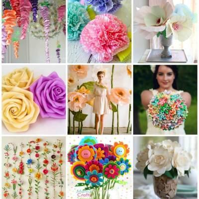 The Ultimate List of Handmade Flower Tutorials- 37 Inspiring projects