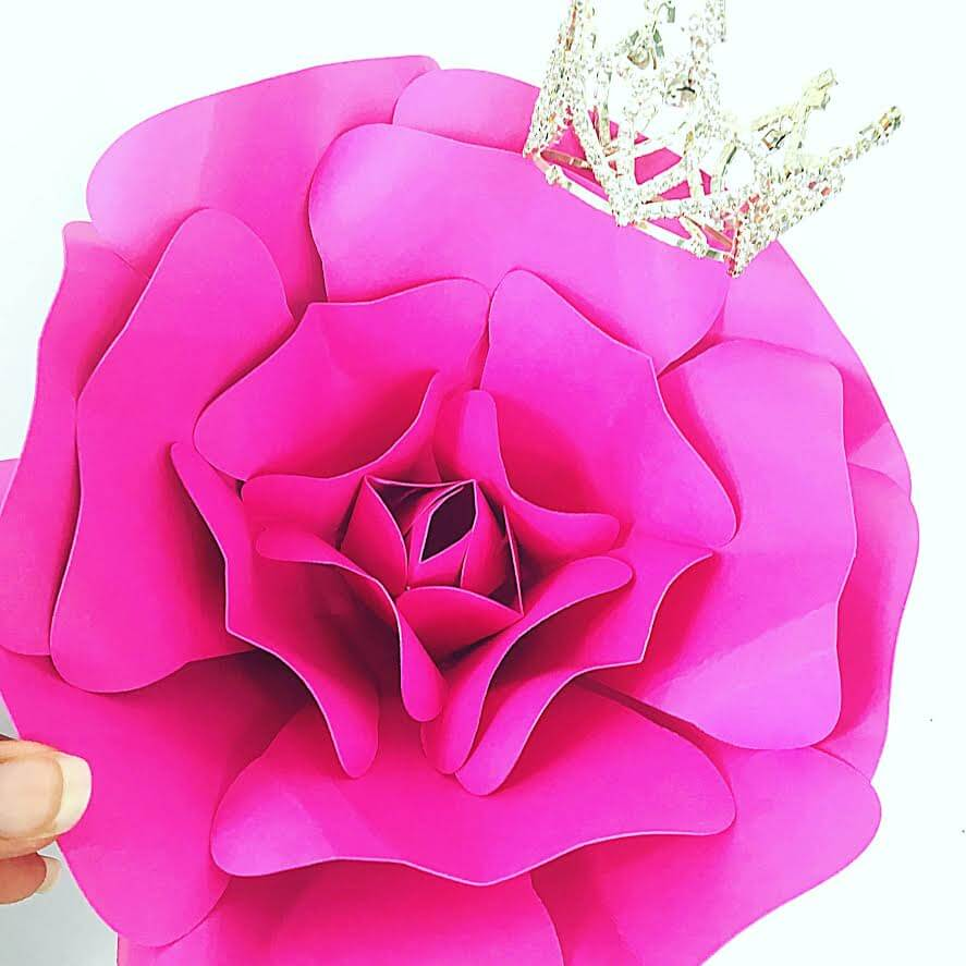 Giant Paper Rose Tutorial- Majesty Style Rose