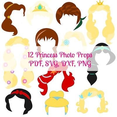 DIY Princess Photo Props- Freebie Friday #9