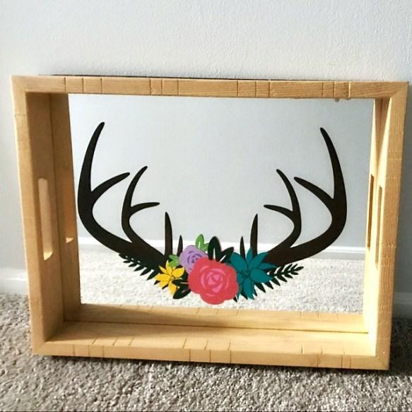 Free Deer Floral Antler Svg Freebie Friday Abbi Kirsten Collections