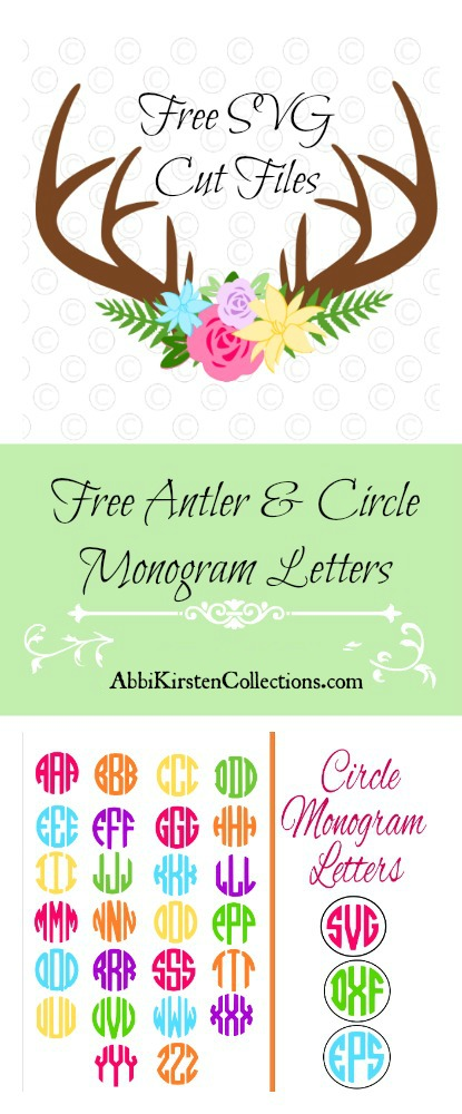 Free deer antler svg cut files. Flower svg cut files. Monogram SVG.
