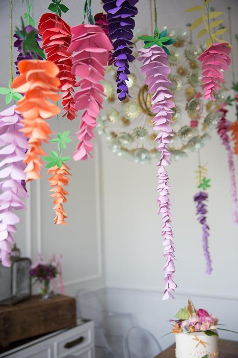 Hanging Paper Wisteria – DIY Paper Wisteria Flower Tutorial