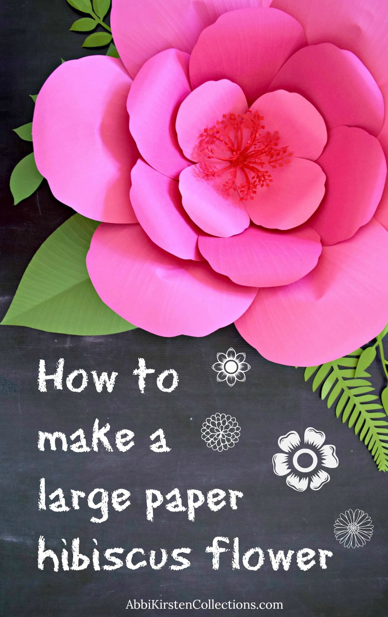 How to make large paper hibiscus flowers