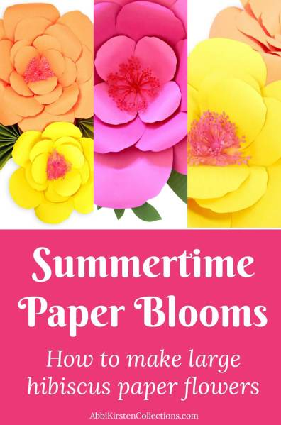 Giant Paper Flower Tutorial: DIY Large Hibiscus Flowers