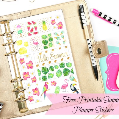 Free Printable Planner Stickers: Summertime Planner Stickers
