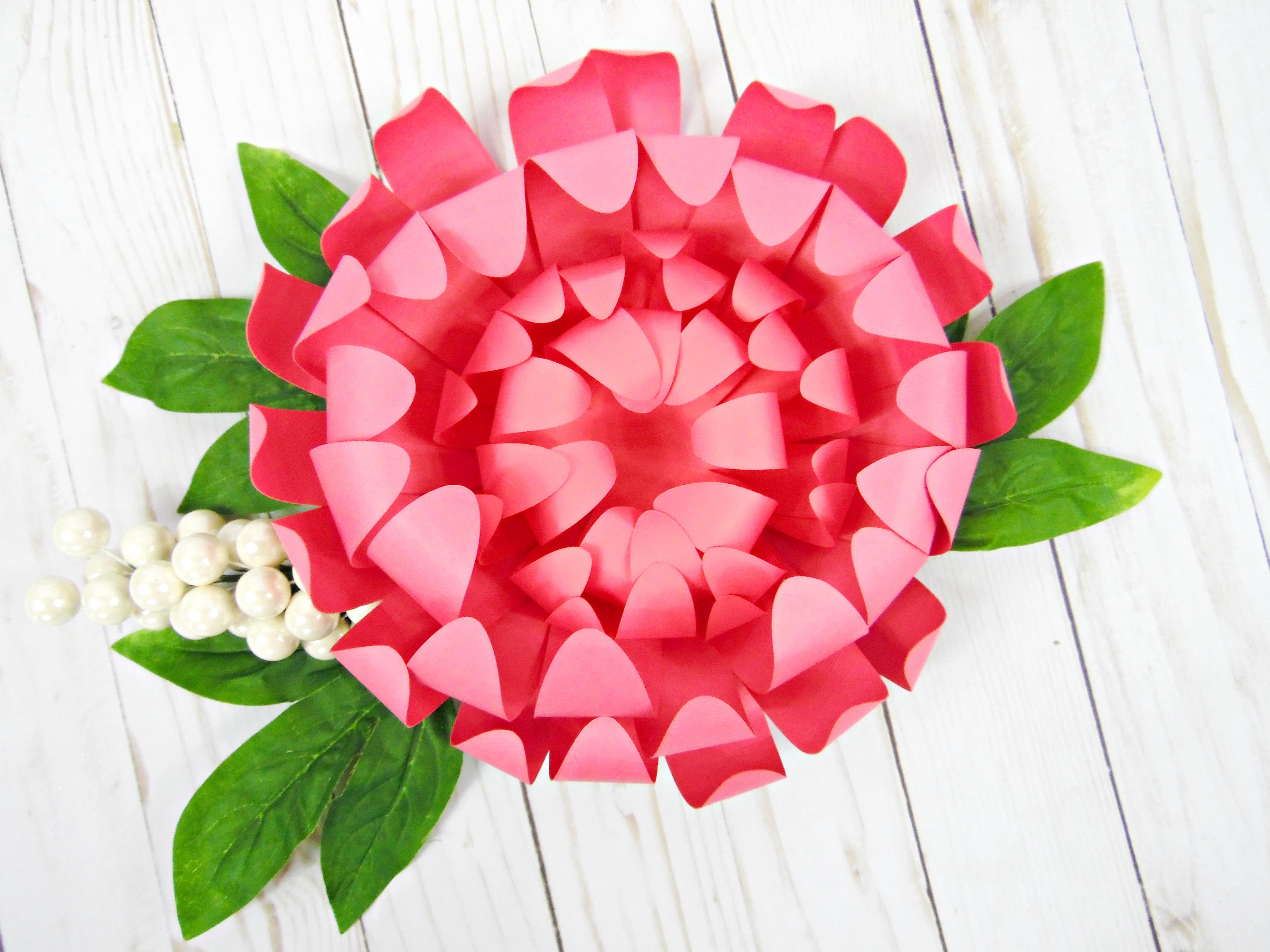 DIY Chrysanthemum Flower Tutorial Paper Craft Project
