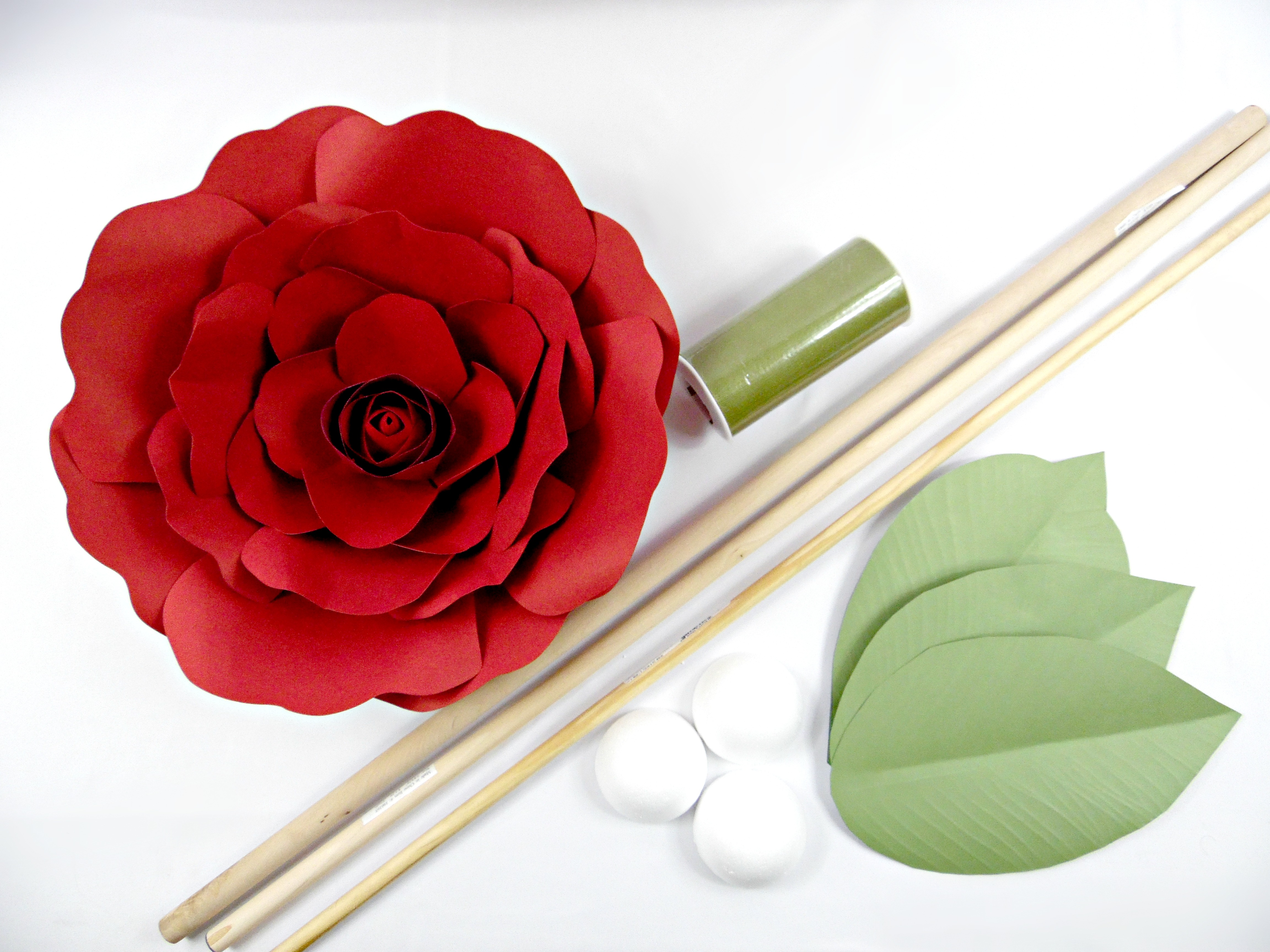 How to make a paper rose with stem step by