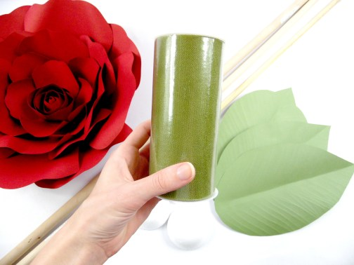 DIY Flower Stem: How to Make Giant Paper Flower Stem