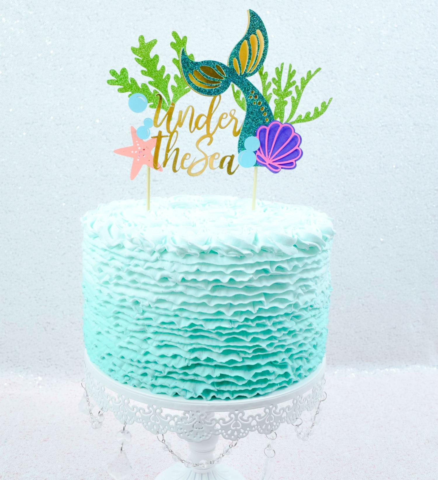 Mermaid Tail Cake Topper: DIY Birthday Cake Topper Tutorial