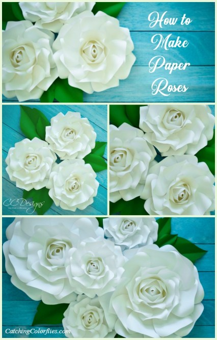 DIY Paper Flower Alora Garden Rose Tutorial & Tutorial Video