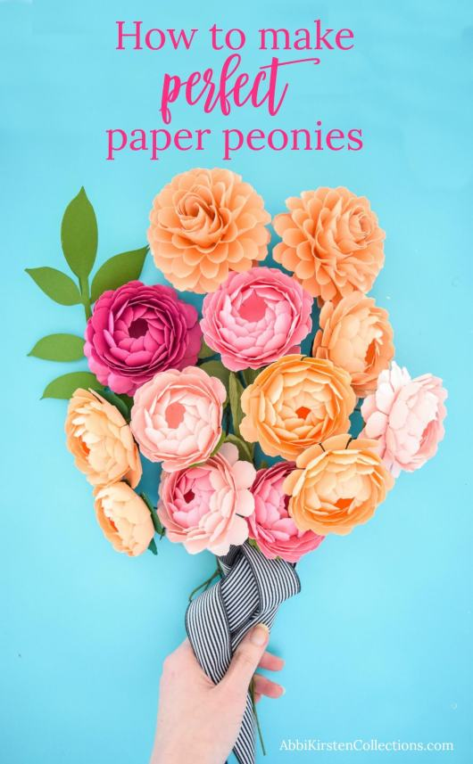 How to make small paper peony flowers.