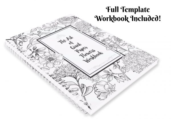 Paper flower templates with full tutorials. Printable PDF