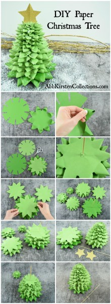 Create this fun and easy 3D paper Christmas tree craft for your holiday decor this year. Download the FREE SVG and PDF printable templates.