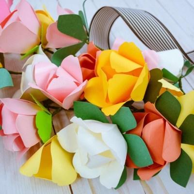 Spring Tulip Paper Flower Tutorial