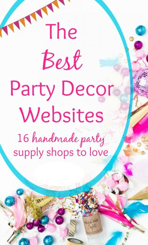 The best handmade party shops perfect to help you plan your next event.