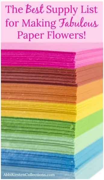 paper flower making supply list