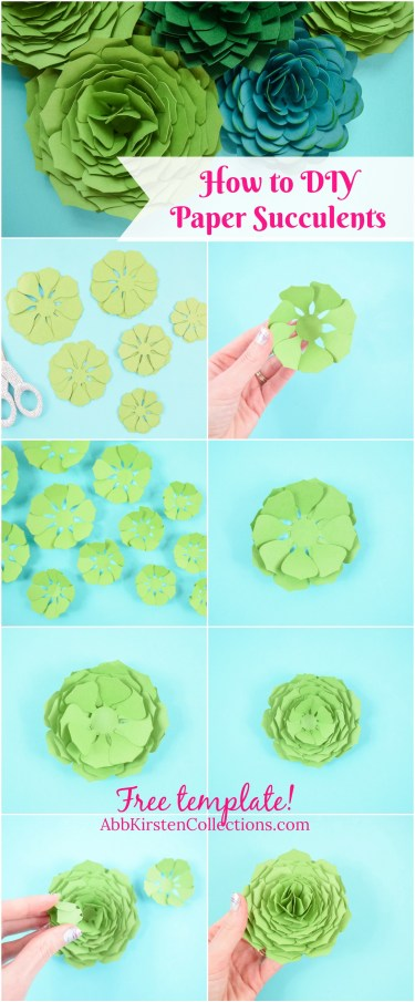 Paper Succulent Template: How to Make Paper Succulent Flowers