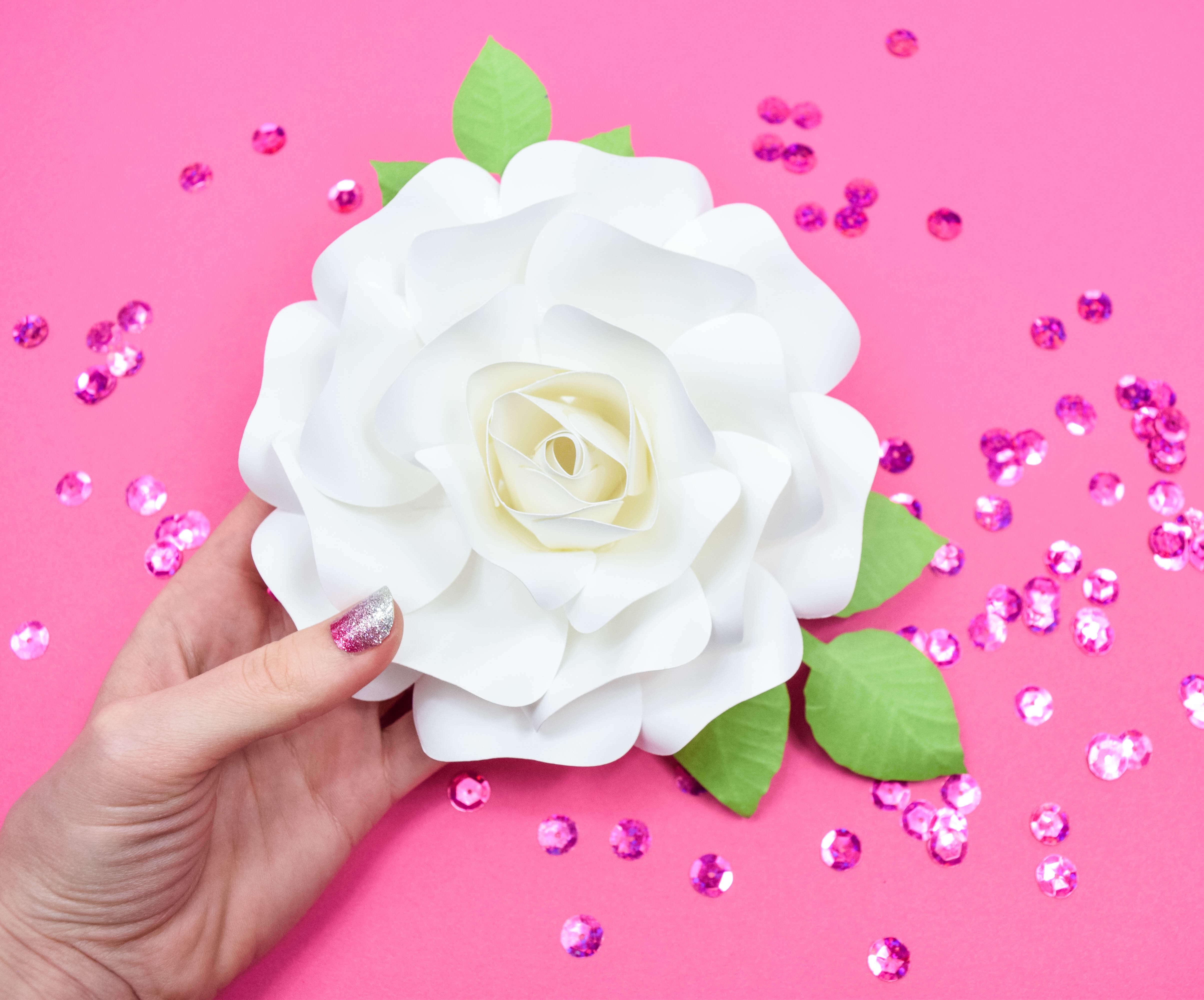 DIY Paper Rose Tutorial: Mini Alora Paper Rose