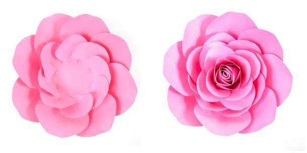 Large paper rose template