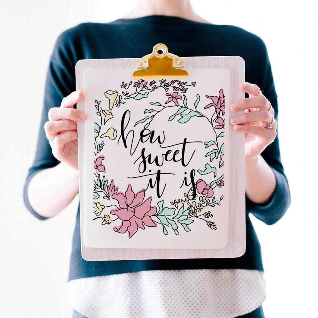 FREE Wall Art Printable: Floral Spring Printable
