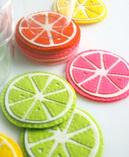Citrus Coasters by Purl Soho