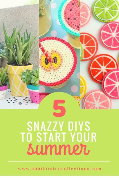 5 Easy Summer DIY Projects: 5 Snazzy DIYs to Start Your Summer
