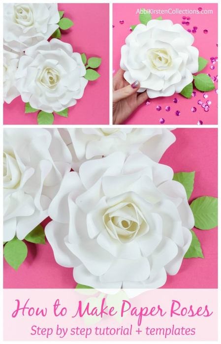 Small paper rose tutorial