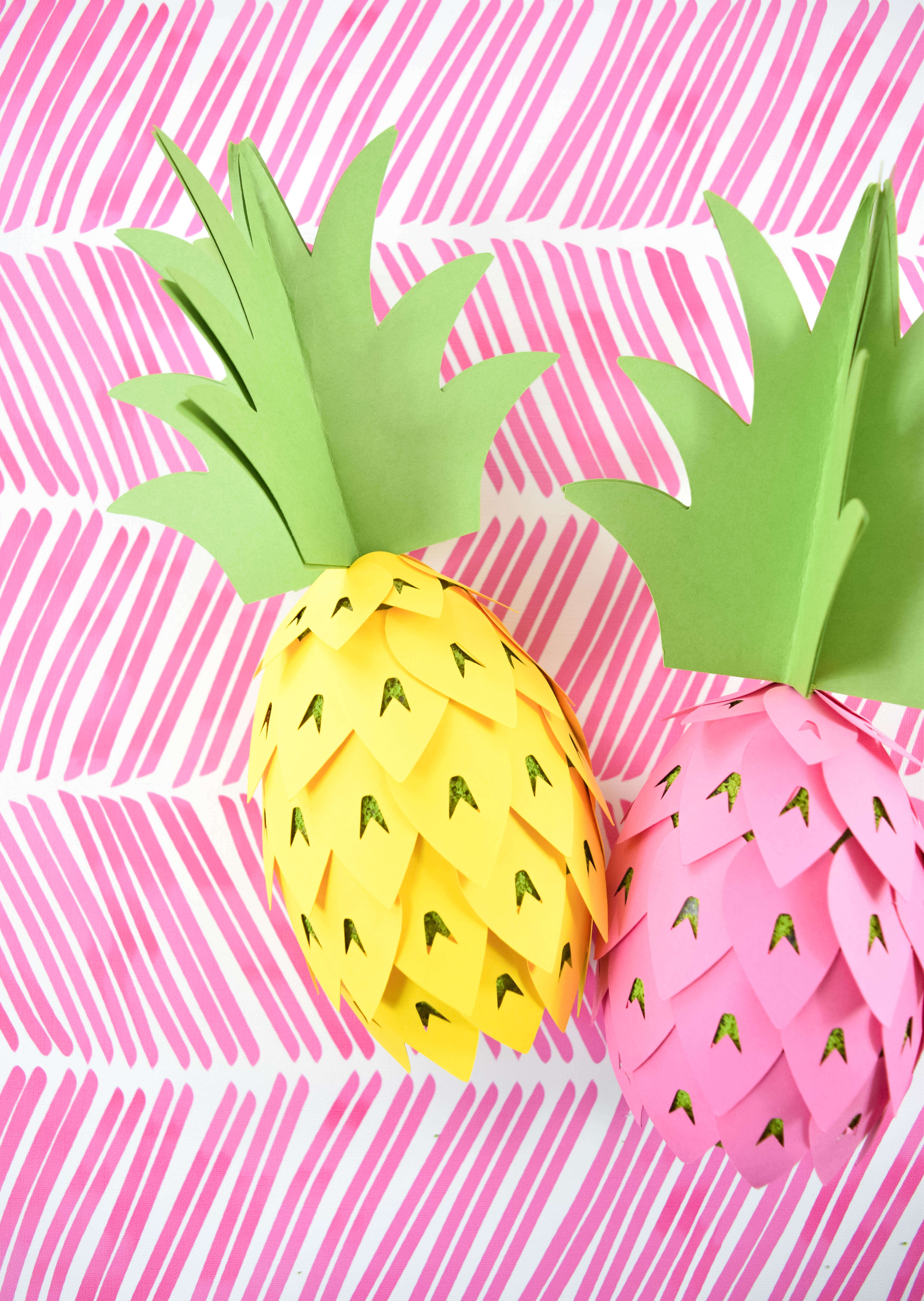graphic relating to Pineapple Template Printable titled Pineapple Celebration Decorations - How toward: Do-it-yourself Paper Pineapple