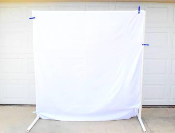 DIY Freestanding PVC Backdrop
