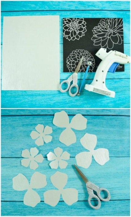 DIY paper gardenia tutorial