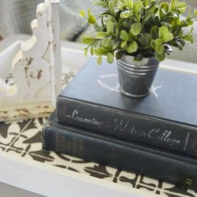 DIY Farmhouse Tray: Chalk Paint Tray Makeover