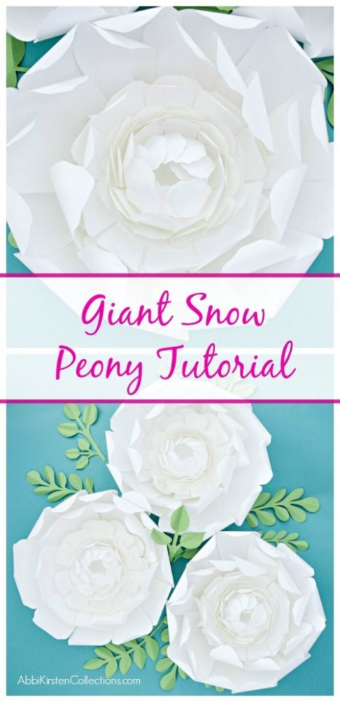 DIY Giant Snow Peony Paper Flower Tutorial