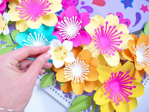 Small paper flowers