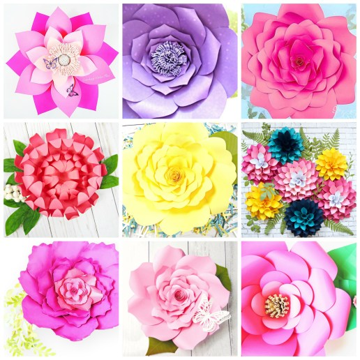 Paper Flower Templates Free Printable Pdf Template Svg Cut Files