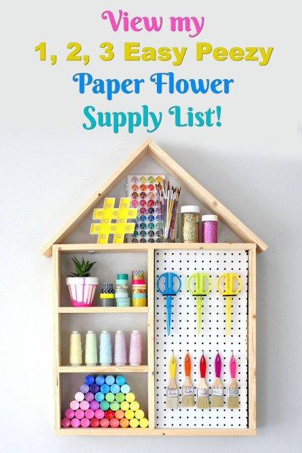 Make Your Own Paper Flowers Paper Flower Making Supply List