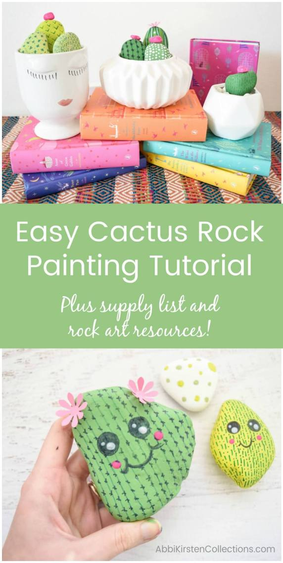 How to paint rocks. Easy Rock Painting Ideas: DIY Cactus Rock Painting Tutorial.