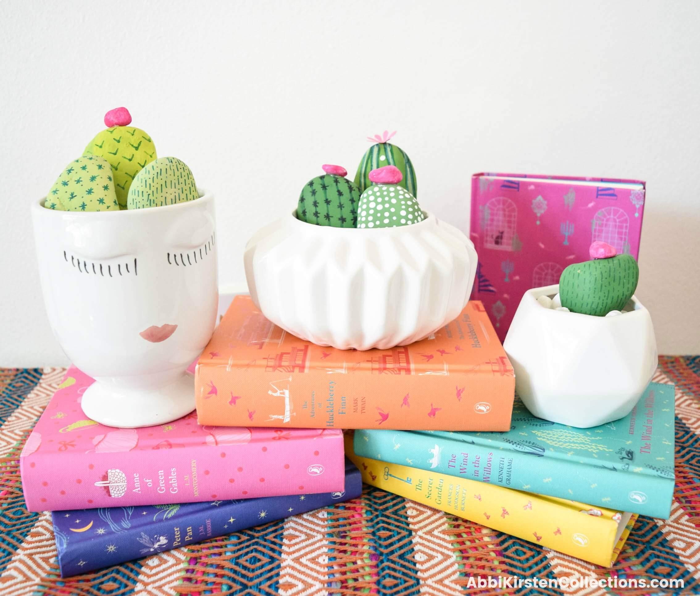 Easy Rock Painting Ideas + Cactus Rock Painting Tutorial