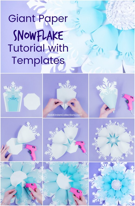 Paper Snowflake Tutorial: Easy DIY Giant Snowflake Template