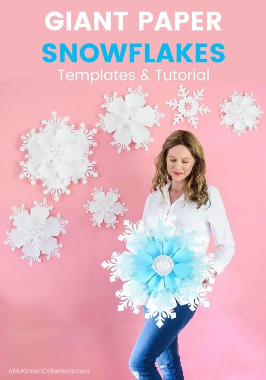 giant paper christmas snowflake decor printables