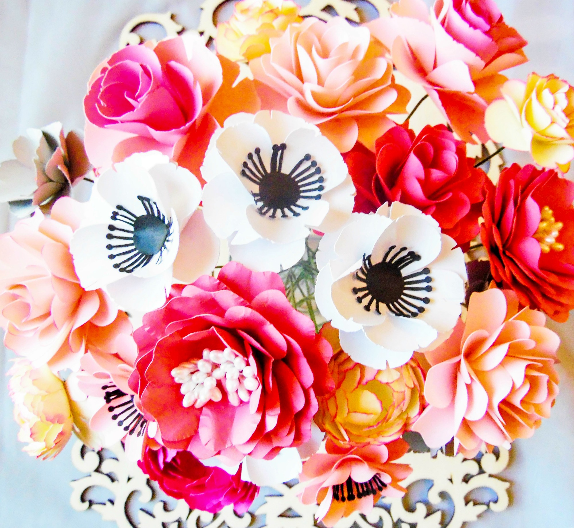 How to Stem a Paper Flower for Bouquets and Arrangements
