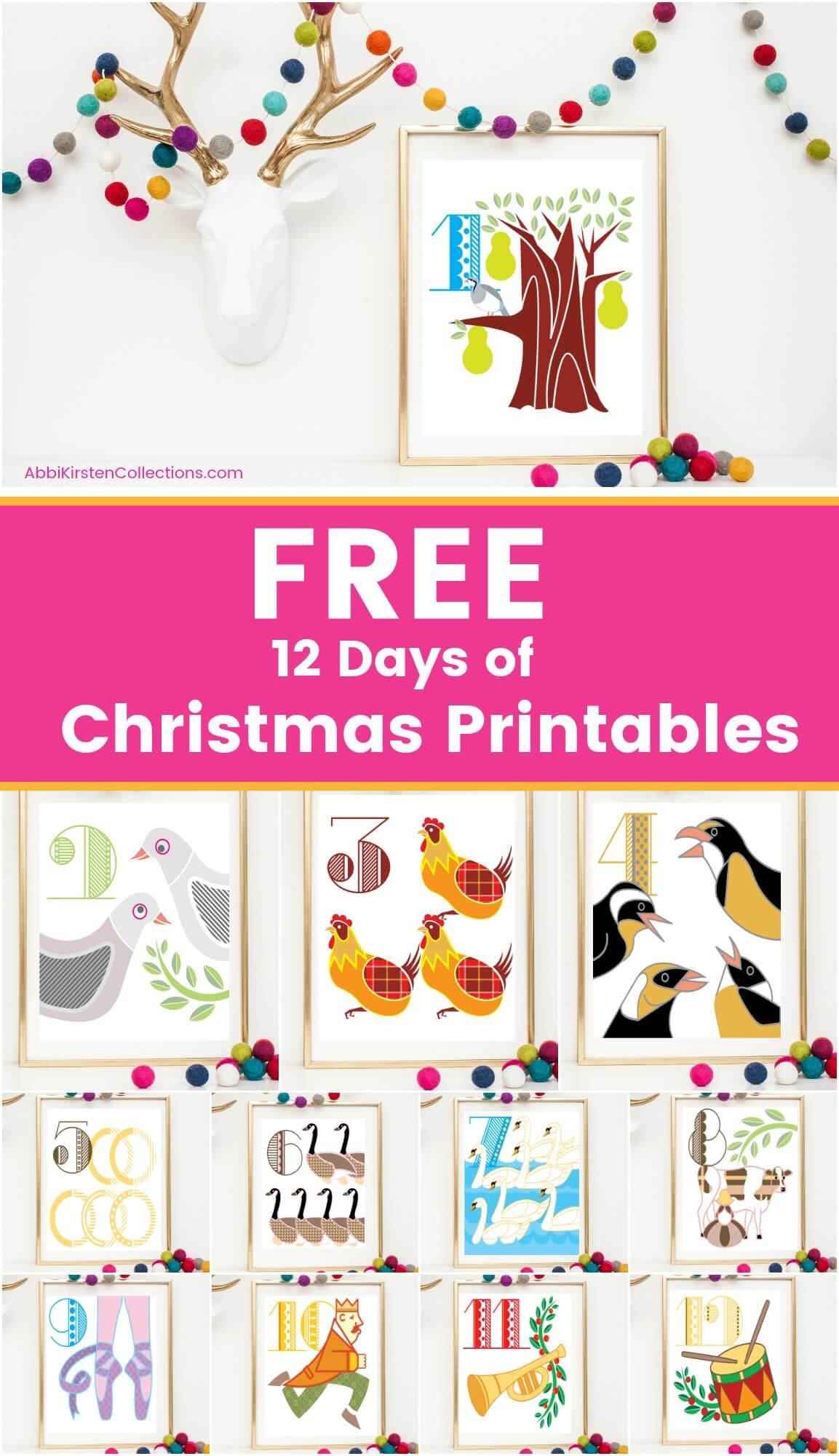graphic relating to 12 Days of Christmas Images Printable identified as 12 Times of Xmas Printables: No cost Xmas Printable