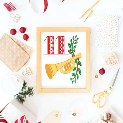 12 Days of Christmas Printables: Free Christmas Printable Wall Art