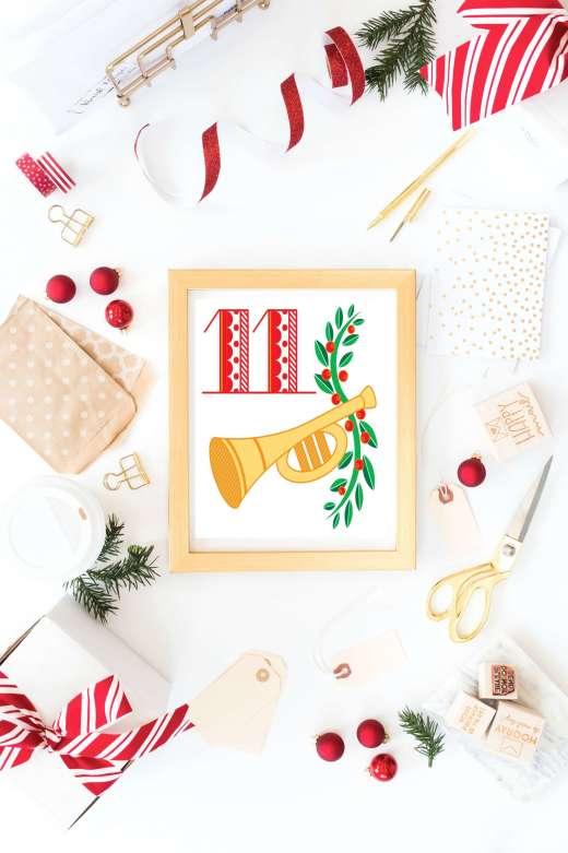 12 Days of Christmas Printables: Free Christmas Printable Wall Art for you home. Deck you halls with these free Christmas wall art printables.