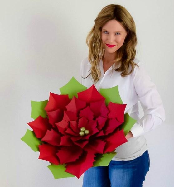paper poinsettia flowers