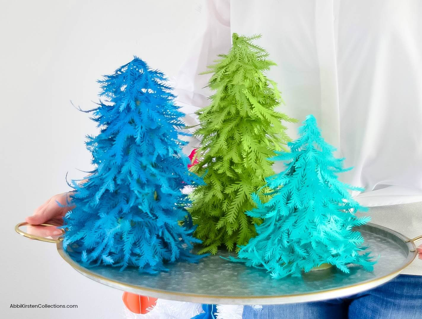 Paper Christmas Tree Craft: Free Christmas Tree Template