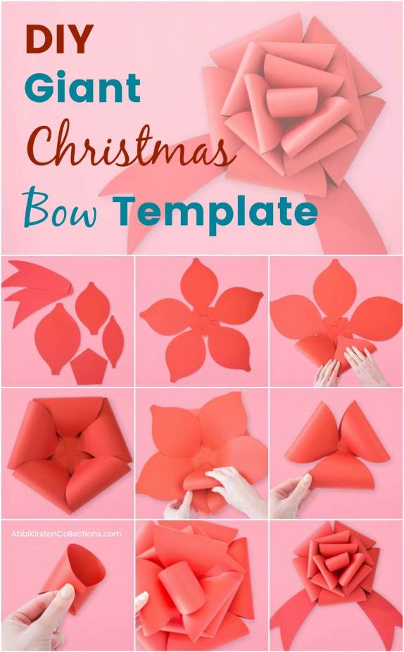 Free Christmas Bow Template