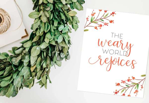 Free Christmas Art Printable