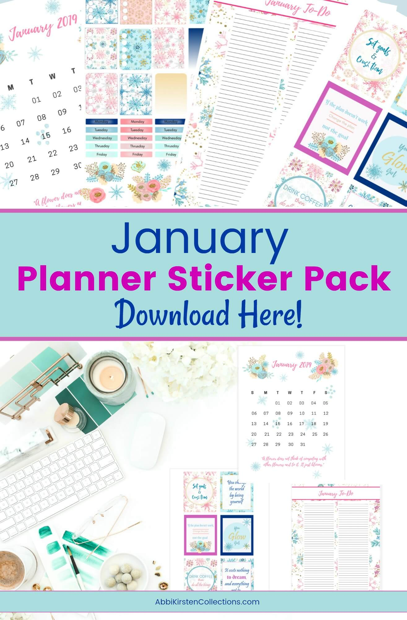 Free Planner Stickers Winter Printable Planner Stickers For January