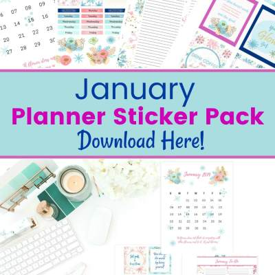 January Planner Stickers: Free Printable Winter Planner Stickers
