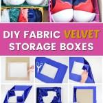 Velvet storage boxes